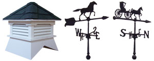 pine creek structures venting options including cupola with or without weathervane